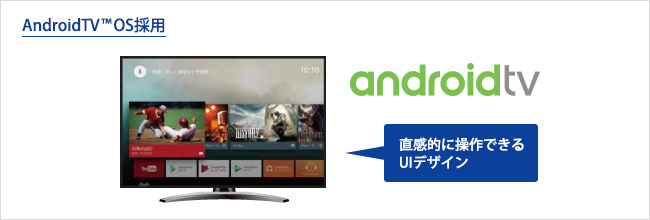 AndroidTV(TM) OSを搭載