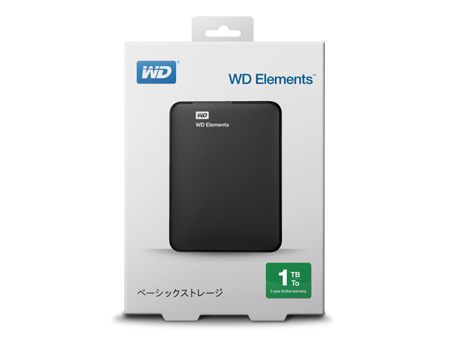WD Elements Portable パッケージ(1TB)
