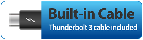 Icon for built-in Thunderbolt 3 cable