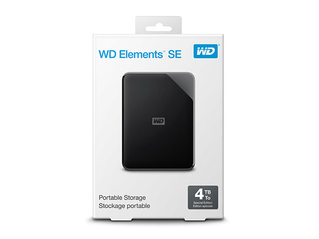 WD Elements SE Portable パッケージ(4TB)