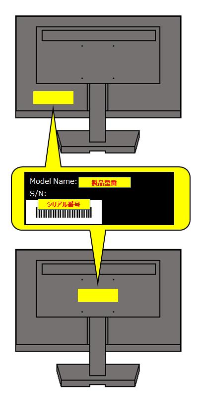液晶ディスプレイの製品型番やシリアル番号(S/N)の確認方法 Q&A ...